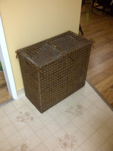 Its a repurposed laundry bin!